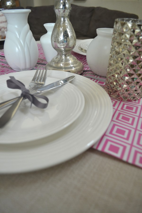 Pink and Gray table