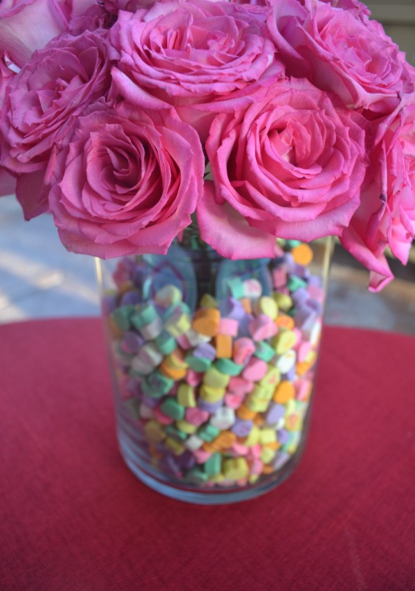 Pink Flowers and Sweetheart Vase