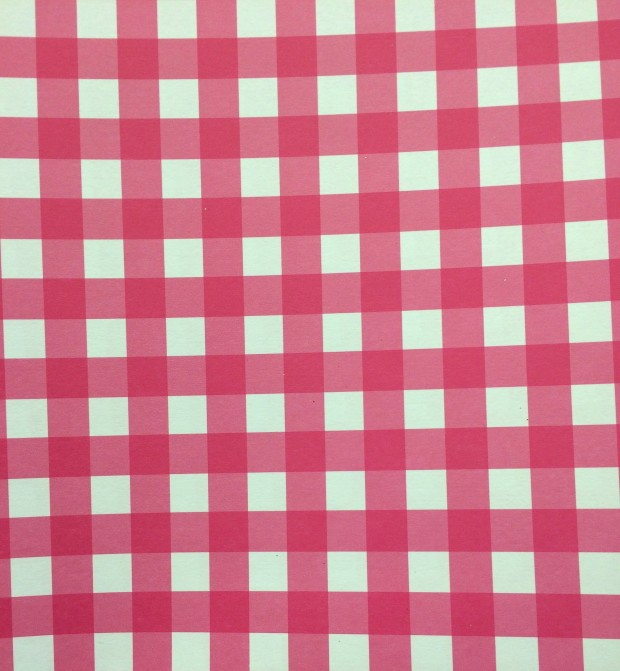 Hobby Lobby Pink Gingham paper