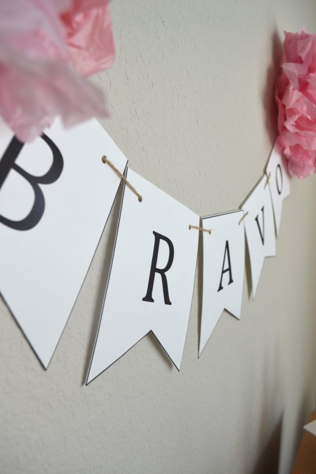 Black, White, and Pink Free Party Printables