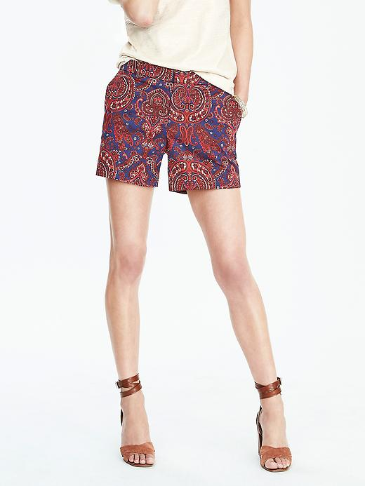 Red, White, and Blue Paisley Shorts