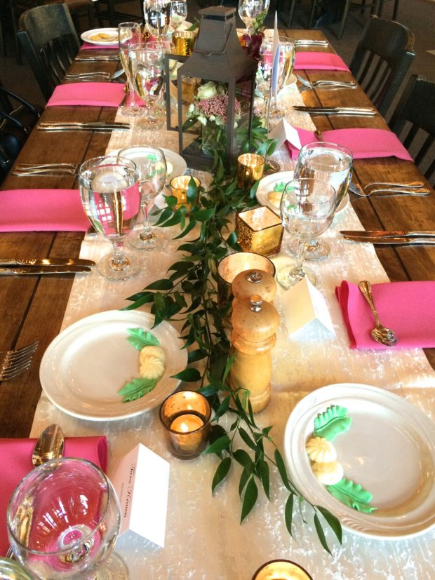 Pink Rustic Table