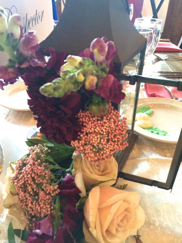 Pink and Purple Floral Centerpiece