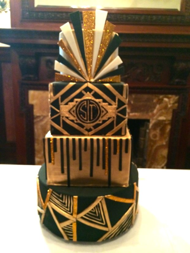 20's Themed Wedding Cake