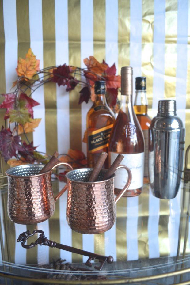 Turn your bar cart into a festive drink station this Fall with a few of these tips. Click through to see!