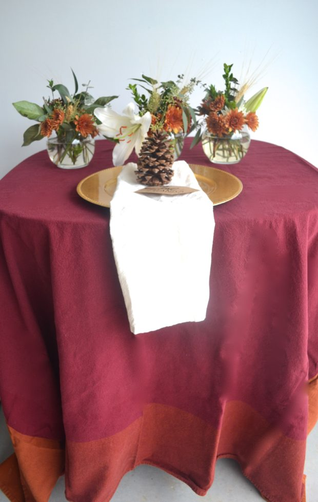 Click here to see tips on using a fall floral centerpiece and tablescape this fall.