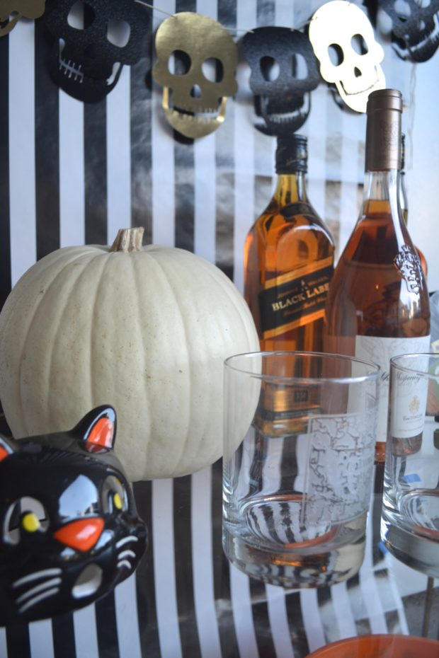 Turn your bar cart into a spooky drink station this Halloween with a few of these tips. Click through to see!
