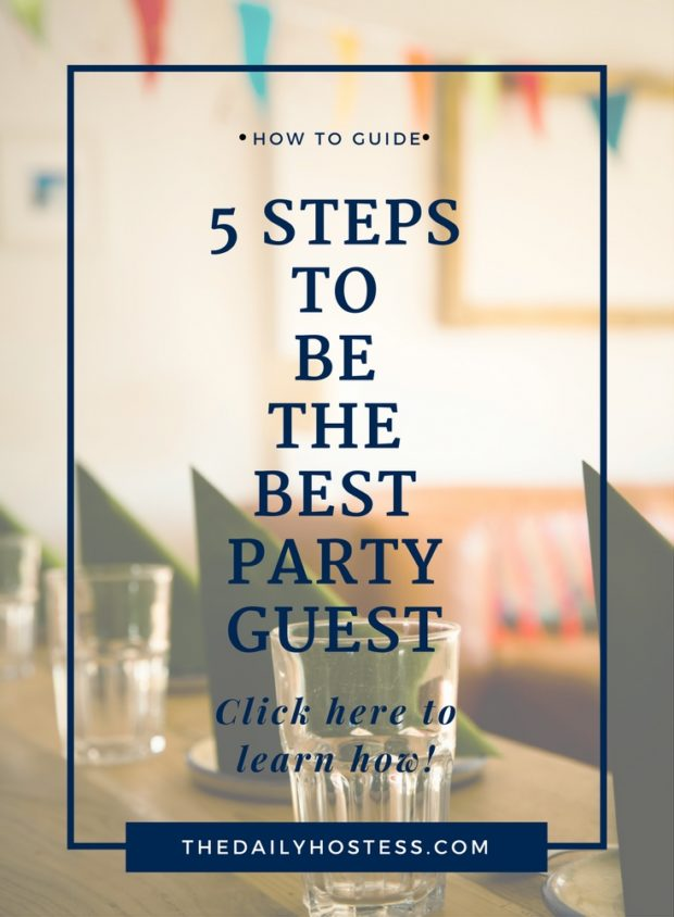 Learn some simple tips to be the best party guest. Click here in time for your holiday parties!