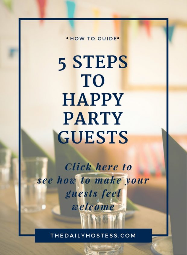 5 Tips to Welcome Party Guests into your home, have a great party when party guests are comfortable.