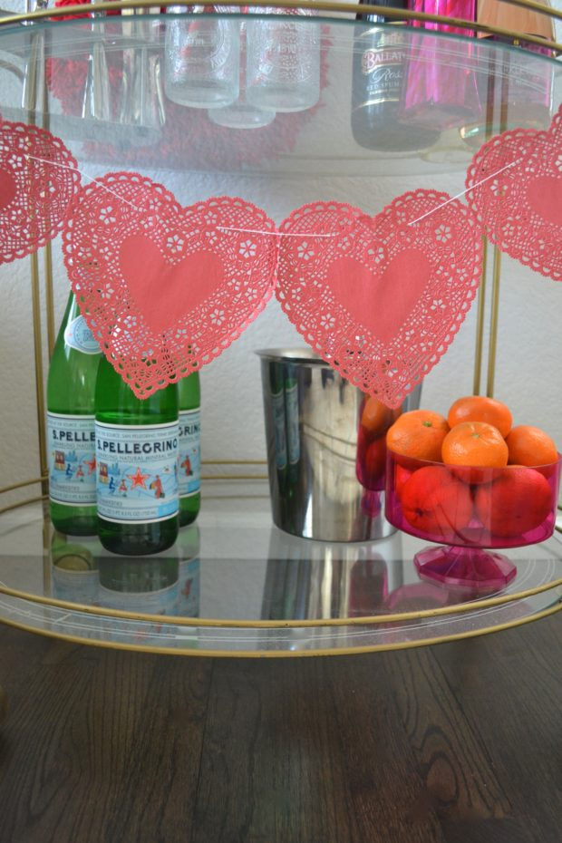 Click here for a festive Valentine's Day Bar Cart.