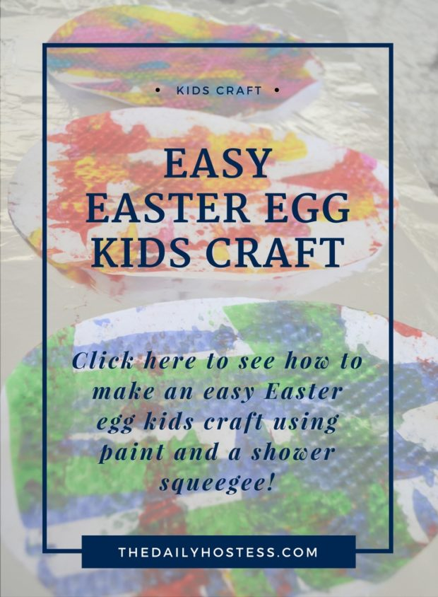 Easter kids craft, painted Easter eggs, simple kids craft, Easter egg banner.