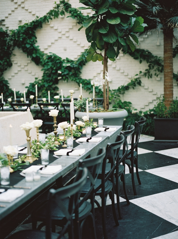 Use the Pantone Color of the Year Greenery for a Party Color Scheme, Greenery, Black and White