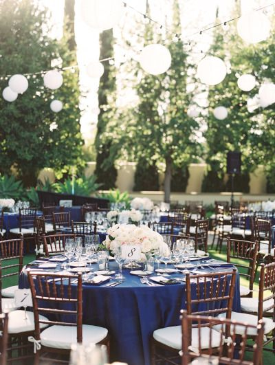 Use the Pantone Color of the Year Greenery for a Party Color Scheme, Greenery, Blue and White