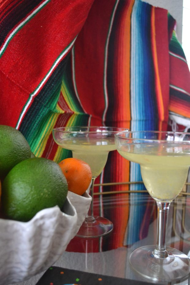 Colorful Cinco de Mayo bar cart inspiration, citrus lemonade