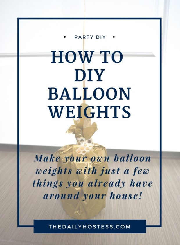 How to Make DIY Balloon Weights