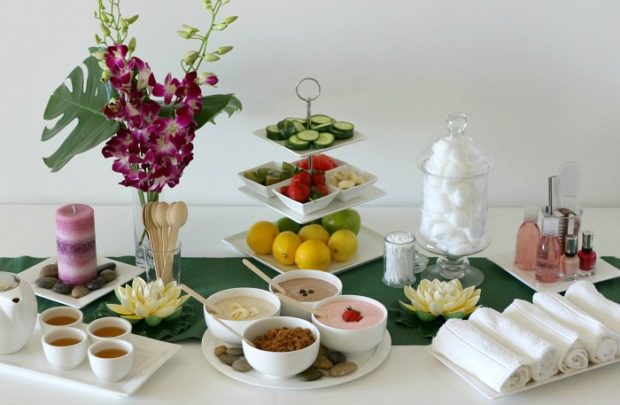 Round up of May parties, mother's day spa party, at home spa party