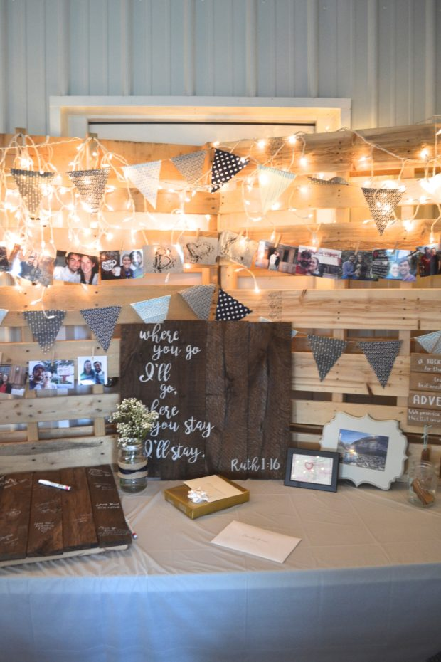 Inspiration for a rustic adventure themed backyard wedding and reception.