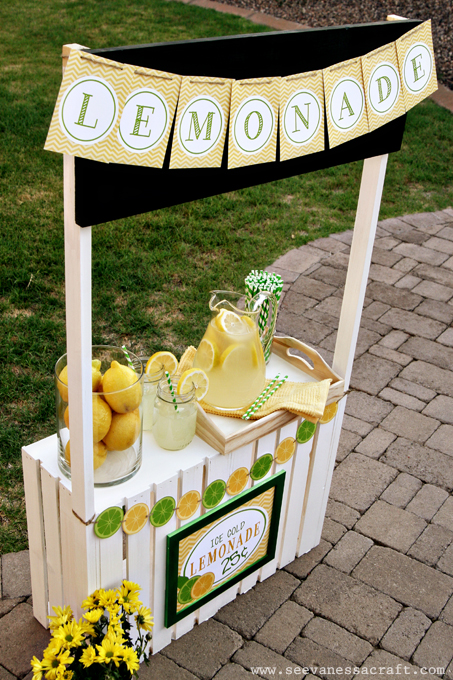Party color scheme summertime lemonade stand the daily for Diy lemonade