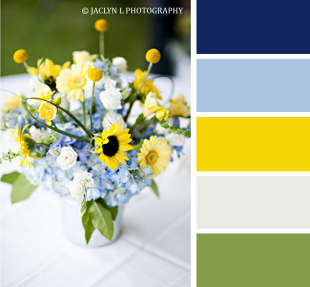 Party color scheme, summer time lemonade stand, summer color schemes, blue and yellow party color scheme