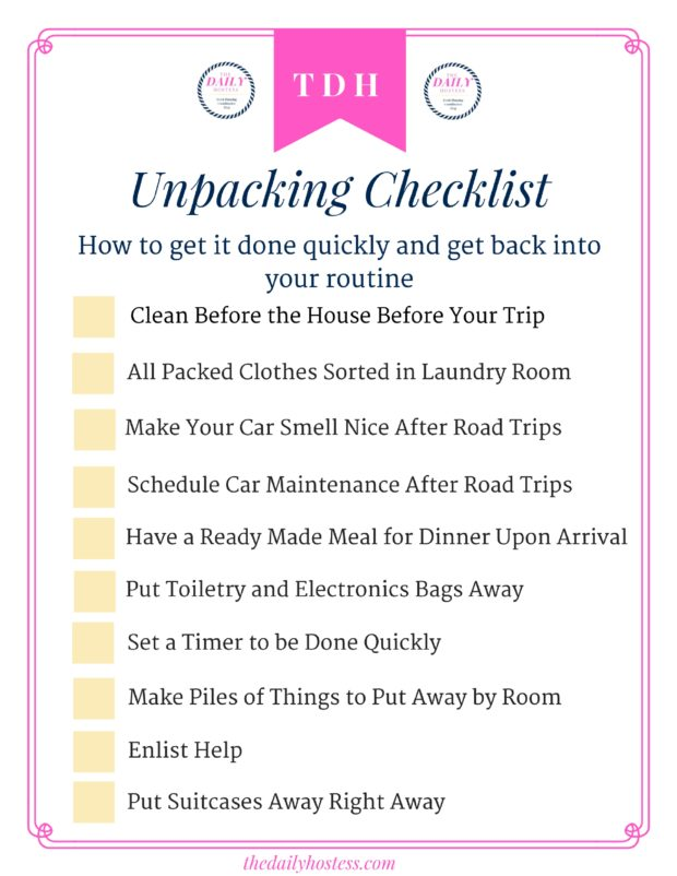 How to unpack quickly from a trip, packing and unpacking tips, travel tips