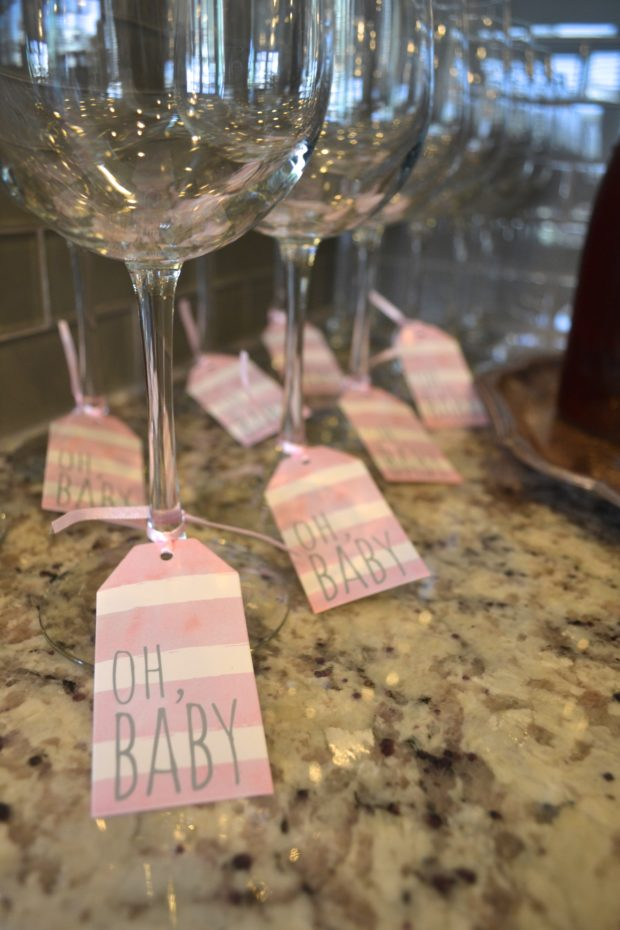 Girl Power themed baby shower, kate spade themed baby shower, black and white, pink baby shower, baby shower brunch