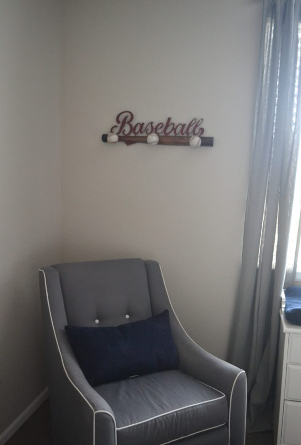 Baseball themed nursery reveal, vintage baseball themed nursery, baseball decor