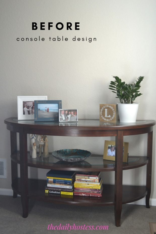 Console table design plan, coastal themed console table with resources