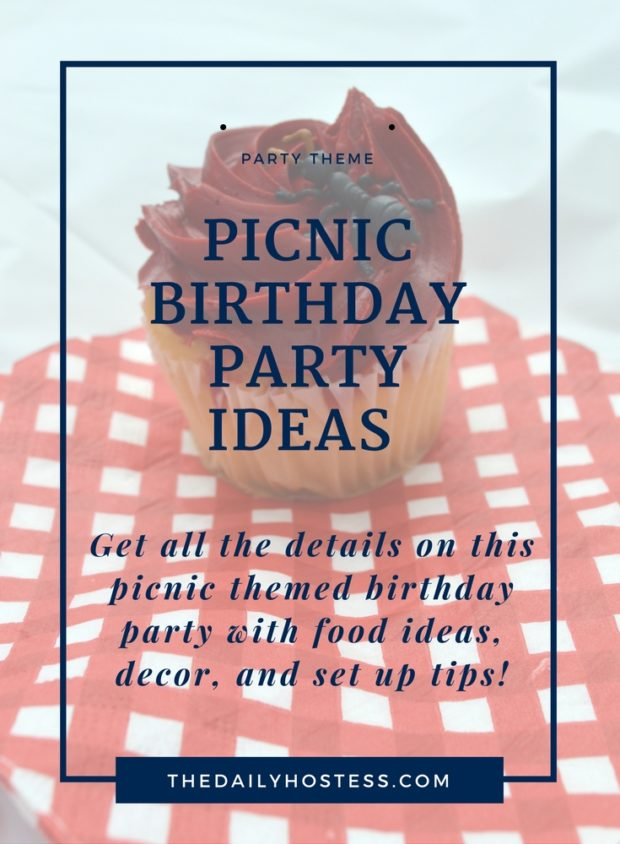 real life party picnic themed birthday party the daily hostess