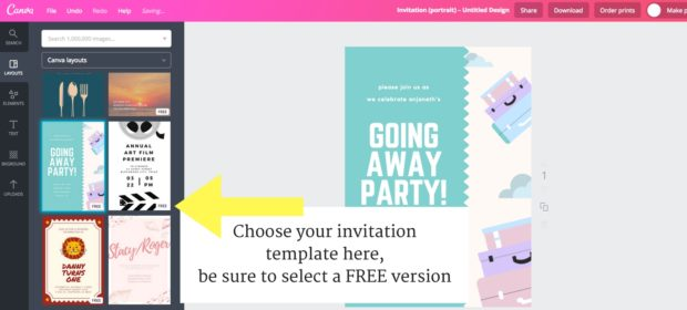DIY Invitation, how to make customizeable invitation, DIY Graphic Design, how to use Canva