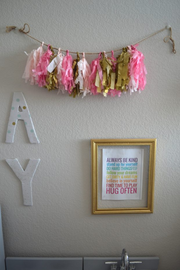 how to reuse party supplies, reuseable party decor, party decor as home decor