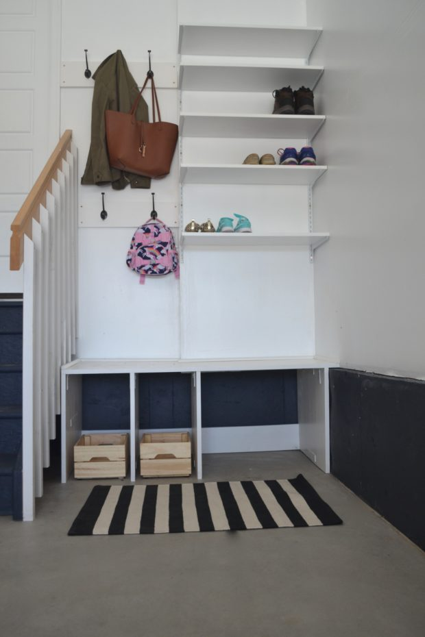 Garage mudroom ideas, garage organization ideas, garage mudroom diy, garage storage, garage storage ideas, garage mudroom