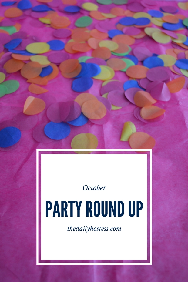 October celebration round up, opal themed party, October party ideas, opal party ideas, blush and ice blue party ideas