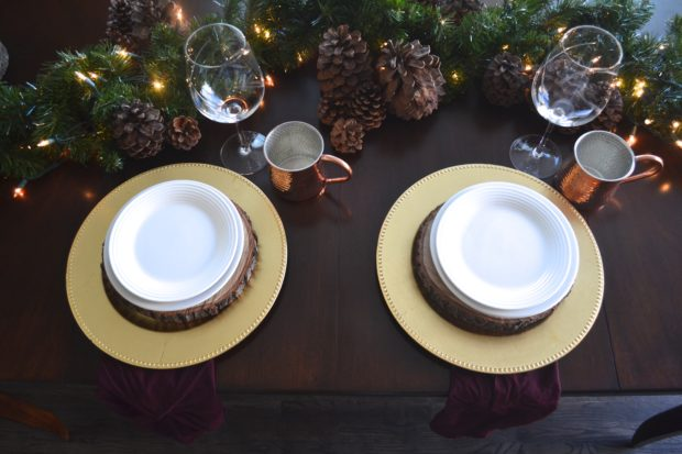 Winter Solstice tablescape ideas, winter solstice party ideas, December celebrations