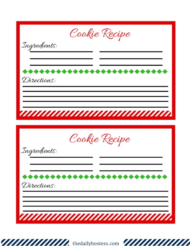 Cookie Exchange Printable, cookie exchange ideas, cookie exchange tags, gift tags, recipe card, Christmas recipe card