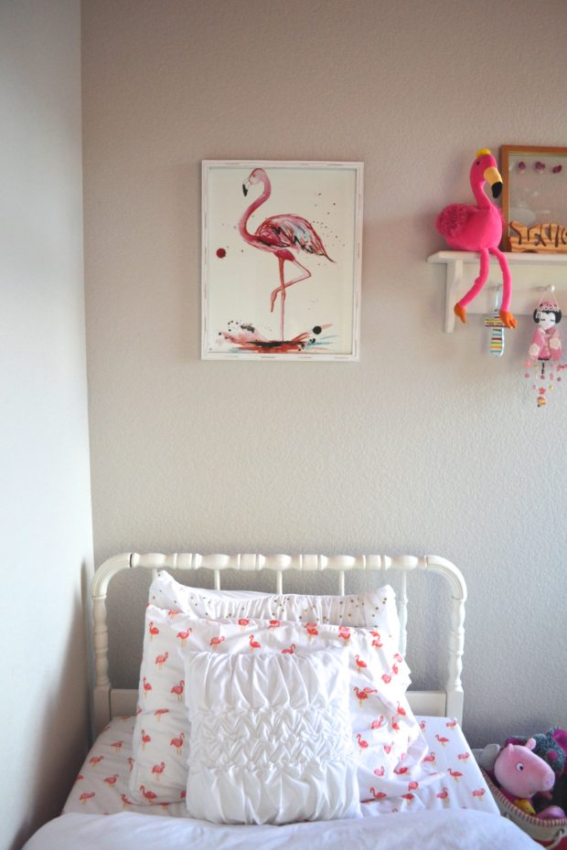 Flamingo Themed Big Girl Room Reveal The Daily Hostess
