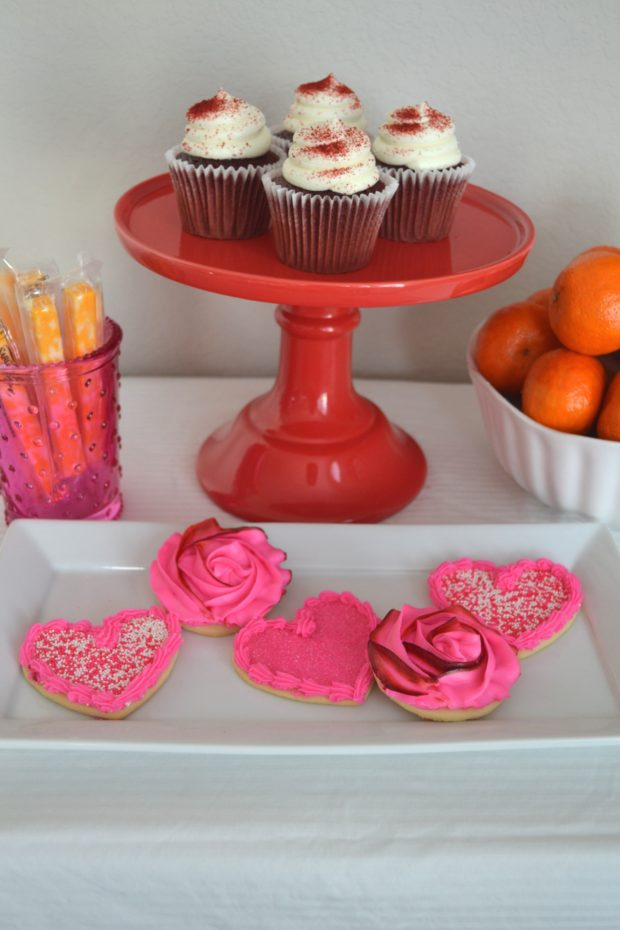 kids valentines party ideas, kids valentine's party, playdate party, valentines treats, valentines dessert buffet