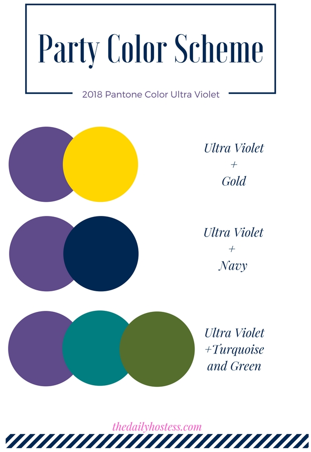 party color ultra violet, ultra violet party ideas, ultra violet party decorations, party color scheme ultra violet