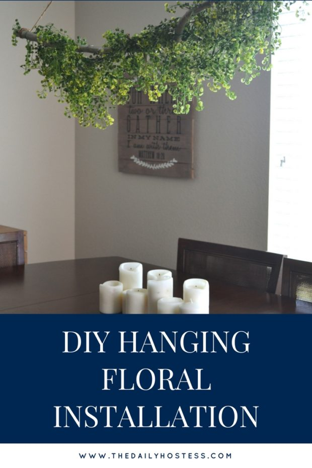 how to make a hanging floral display at home, greenery floral centerpiece, diy hanging flowers, greenery home decor, greenery party decor