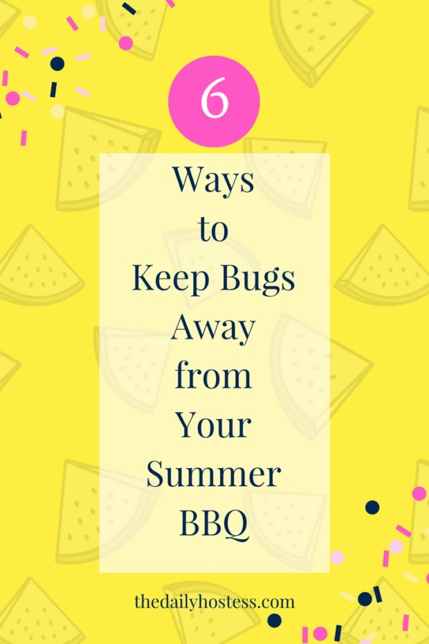 outdoor party ideas, bug free bbq, how to keep bugs away from food, outdoor dining ideas, summer bbq