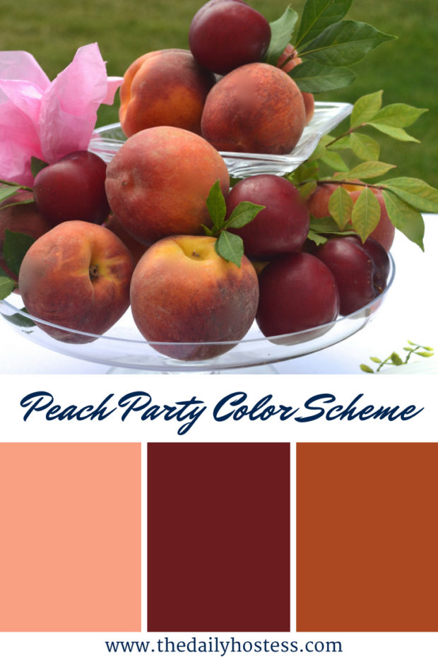 peach party, peach party decorations, peach party tablescape, peach themed baby shower, peach bridal shower, peach party favors