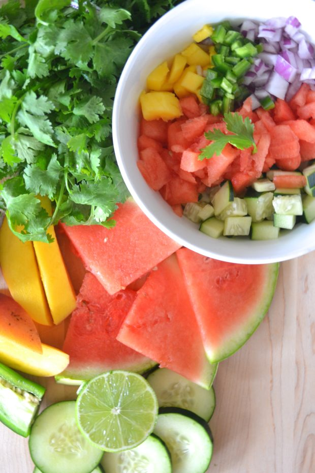watermelon recipes, watermelon salsa, summer watermelon ideas, salsa recipe