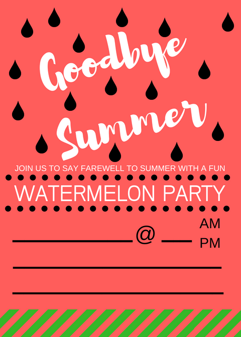 I'm wrapping up this watermelon week with some super cute free printable invitations. We talked so much about how to invite the neighbors over and enjoy the end of summer with watermelon here and here. Now you have a formal way to invite them! And by formal, I mean a printable invitation that isn't formal at all. watermelon party ideas, watermelon themed party invitations, party invites, watermelon party ideas