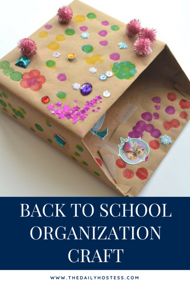 back to school mailbox, back to school organiation, back to school craft, organize school papers with a mailbox