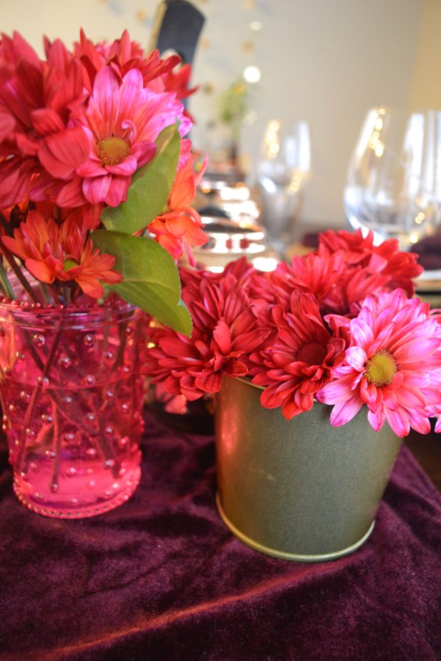 Bollywood inspired dinner party, red, orange, and pink dinner party colors, Morrocan inspired tablescape, Bollywood party ideas, Morrocan party ideas
