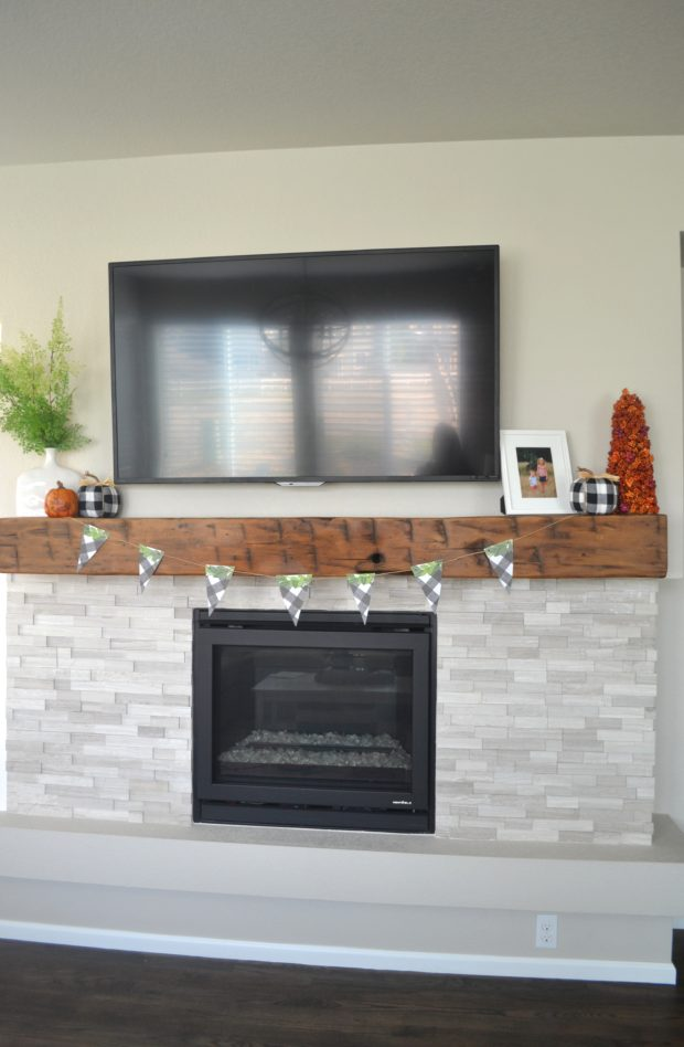 fall mantle decor, fall mantle decorating ideas, fall mantle decorating with a tv