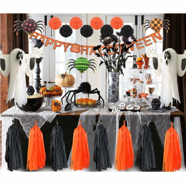 last minute Halloween party decorations, decorate for Halloween with Amazon Prime, quick Halloween decorations