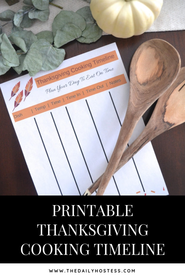 thanksgiving cooking timeline, printable cooking timeline for Thanksgiving dinner, plan our Thanksgiving dinner