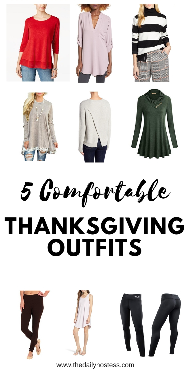 5 Thanksgiving outfits to be comfortable, how to dress comfortably but still cute on Thanksgiving, what to wear on Thanksgiving