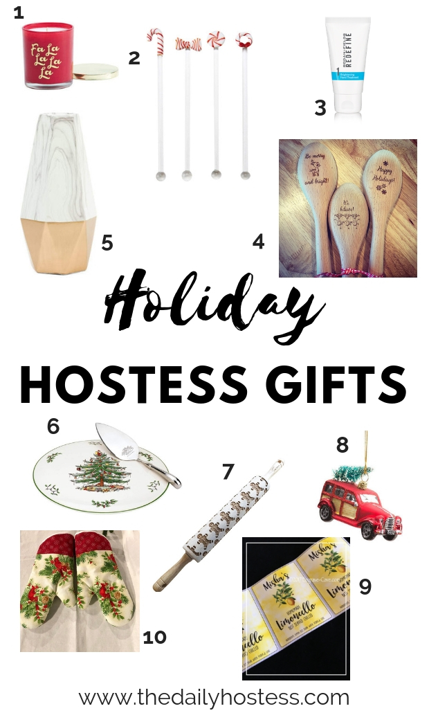 hostess gift ideas, gift guide for hostess gifts, holiday themed hostess gifts, holiday party hostess gifts