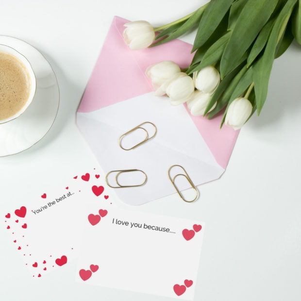 Valentine's day love notes, love notecards for kids, valentine's day cards